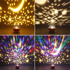 Baby Ceiling Light Projector by Romantic Rotating Starry Sky Moon Led Night Light Projector Lamp