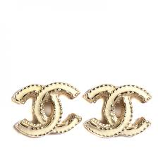 cc earrings chanel enamel cc earrings gold 108740