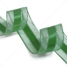 green satin ribbon green sheer and satin ribbons from carrier bag shop tone and