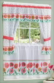 Cottage Kitchen Curtains by Kitchen Coral Colored Curtains Pink Kitchen Curtains Red And