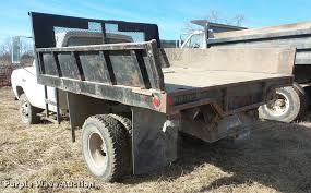 Dodge Ram 350 - 1993 dodge ram 350 flat dump bed truck item db2950 sold