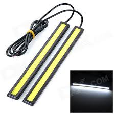 Jrled 6w 200lm Cob Cold White Waterproof Car Running Light Bar 2pcs