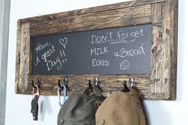 entry decor rustic chalkboard key holder hat rack entry decor rustic