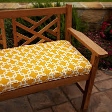 Cushion For Bench Seat Custom Belham Living Printed X In Indoor Bench Cushion Picture With