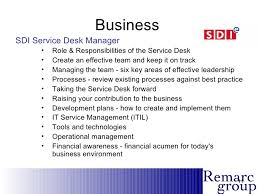 Service Desk Operations Manager Job Description Service Desk Myths