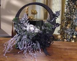 elegant front door holiday basket hgtv