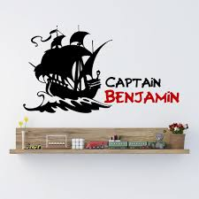 pirate ship boys name wall decal by decor designs decals pirate wal pirate ship boys name wall decal by decor designs decals pirate wall decal
