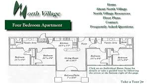 Bedroom Floor Plan With Measurements North Village Upperclassman Housing Our Residences Housing