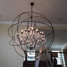 Glass Orb Chandelier Lighting Beautiful Orb Chandelier For Home Decor Lights Ideas