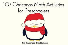 preschool christmas math activities