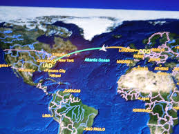 United Flight Map United Airlines Boeing 767 300 Business Class Paris Washington Dc