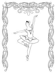 ballet coloring pages bestofcoloring com