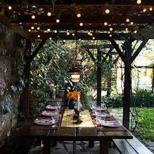 Patio Furniture Lighting Outdoor Lighting Ideas Images The Minimalist Nyc