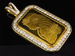 custom pendant custom 1 oz p suisse pendant in 24k yellow gold 4 0 ct