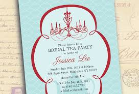 bridal luncheon invitations templates free bridal shower tea party invitation templates ba shower tea