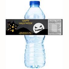 halloween bottle lables personalized spooky moon castle halloween water bottle labels