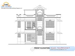 fancy design 10 home elevation plan duplex house and sq ft