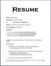 resume format on word simple resume format pdf resume sle