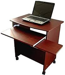 Laptop Desk With Printer Shelf Narrow Computer Laptop Desk W Sliding Printer Shelf