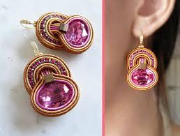 soutache earrings 1105 best jewelry soutache images on shibori