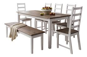 table and 5 chairs and bench canterbury dining table in
