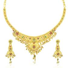 yellow gold necklace set images Queens diamond and jewelry 22 k yellow gold necklace set jpg