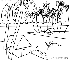 landscape coloring pages coloring pages to download and print