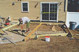 building a deck on grade professional deck builder foundation