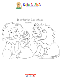 bible key point coloring page daniel and the loins online