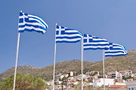 White Flag With Red Cross On Blue Square Greece Flag Colors Meaning And Symbolism