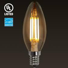 Chandelier Bulb 4w E12 Led Filament Candelabra Bulb Torchstar