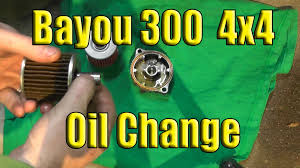 kawasaki bayou oil change 1989 2004 2x4 or 4x4 youtube