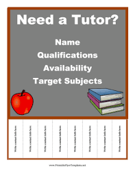 Tutor Flyer Template Free free flyer templates all sorts to choose from this one tutoring