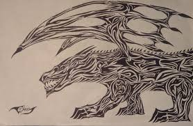 tribal hellhound by joker81st on deviantart