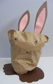 paper bag rabbit craft