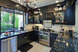 black cabinets with black appliances pictures of kitchens with black cabinets black kitchen cabinets