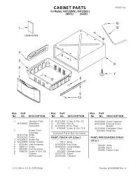 whirlpool xhp1550vw user manual 1 page