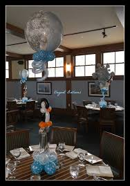 Elegant Balloon Centerpieces by Penguin Themed First Birthday By Www Elegant Balloons Com