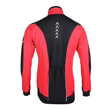 orange cycling jacket arsuxeo sports cycling clothes bike bicycle fleece jersey long