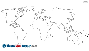 outline of world map world map outline worldmapoutline