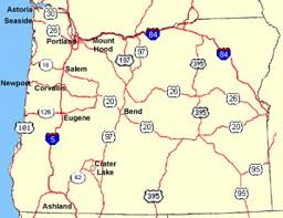 map of highway 395 oregon political and demographic features oregon