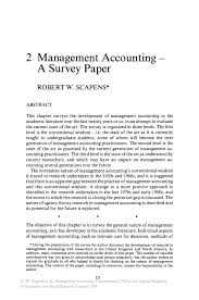 management accounting u2014 a survey paper springer