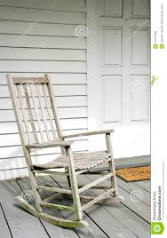 White Rocking Chair Antique White Rocking Chair On Porch Royalty Free Stock Photos