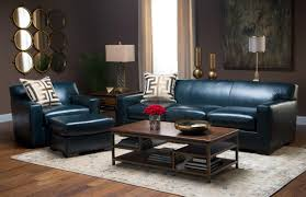 Leather Sofa Furniture Midnight Teal Top Grain Leather Chair Weir U0027s Furniture
