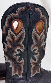 twisted x men u0027s ruff stock black on black sq toe cowboy boots