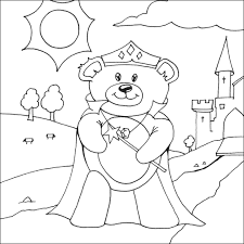 princess bear coloring