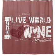 live the world love wine shower curtain social vignerons