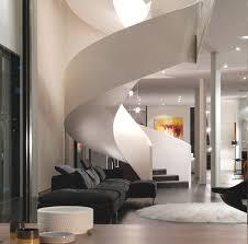 decorations futuristic black spiral staircase interior designs