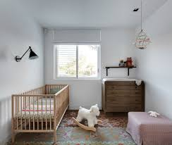 White Wall Decals For Bedroom Baby Room With Wooden Furniture Including Crib And Using Wall