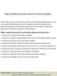 top 8 production pharmacist resume samples 1 638 jpg cb u003d1433253657